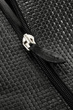 Zipper on leather Royalty Free Stock Photos
