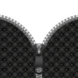 Zipper on the leather jacket Royalty Free Stock Images