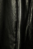 Zipper. A zipper of a leather jacket Royalty Free Stock Photo