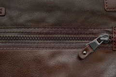 Zipper leather texture Royalty Free Stock Photo