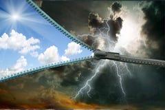Zipper. lightning Royalty Free Stock Photo