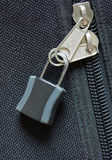 Zipper locked Royalty Free Stock Photography