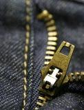 Zipper macro Foto de Stock Royalty Free