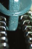 Zipper macro. Extreme macro of a zipper Royalty Free Stock Photo