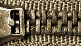 Zipper macro Stock Images