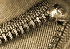 Zipper macro Royalty Free Stock Image