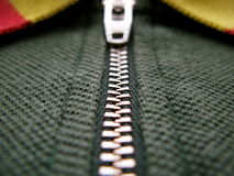 Zipper macro Royalty Free Stock Photography