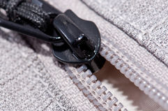 Zipper (macro view) Stock Photo