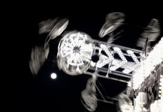 Zipper by Moonlight. Zipper in Moonlight in black and white Royalty Free Stock Photos