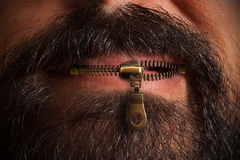 Zipper mouth Royalty Free Stock Images