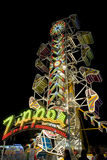 The Zipper at Night Royalty Free Stock Image