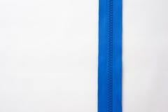Zipper no fundo branco Fotos de Stock