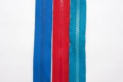Zipper no fundo branco Fotografia de Stock Royalty Free