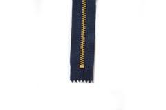 Zipper no fundo branco Imagem de Stock Royalty Free
