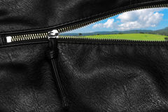 Zipper open concept Royalty Free Stock Photography