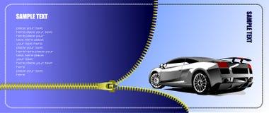 Zipper open concept-car Stock Photography