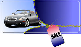 Zipper open concept-car Royalty Free Stock Images