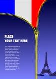 Zipper open France flag Stock Photo
