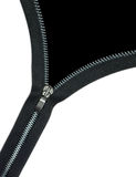 Zipper over black Royalty Free Stock Photography