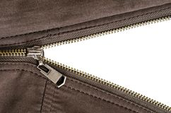 Zipper over white Stock Image