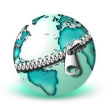 Zipper on the planet Stock Images