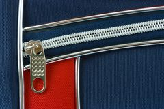 Zipper and pocket on bag Stock Photography