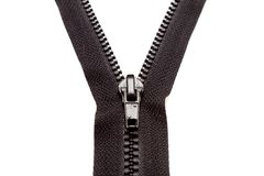 Zipper preto original. Fotos de Stock Royalty Free