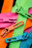 Zipper pull tabs Stock Image