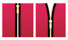 Zipper red Stock Photos