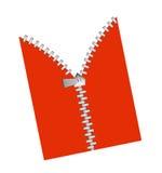 Zipper revealing Royalty Free Stock Photography