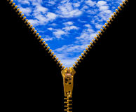 Zipper and sky Royalty Free Stock Photography