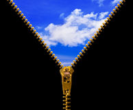 Zipper and sky Stock Image