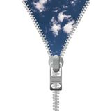 Zipper and sky Royalty Free Stock Photo