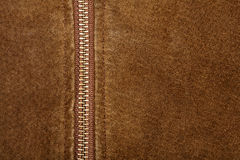 Zipper and suede Royalty Free Stock Images