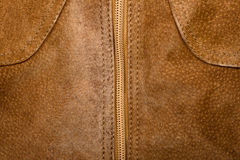 Zipper and suede Stock Image