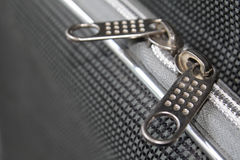 Zipper on the suitcase Royalty Free Stock Photos