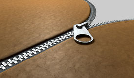 Zipper Three Quarter Perspective Stock Image