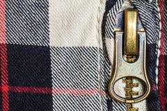 Zipper un détail d'haut étroit de jeans Photos libres de droits