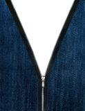 Zipper unzipp jeans cloth Stock Image