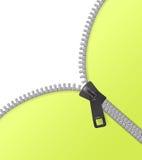 Zipper vector background green Stock Image