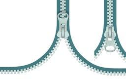 Zipper (vista superior) Foto de Stock