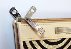 Zipper of wallet Stock Image
