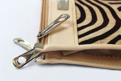 Zipper of wallet Royalty Free Stock Image