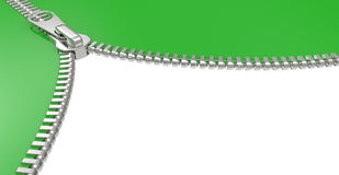 Zipper on white background Royalty Free Stock Photo