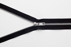 Zipper on white background. Stock Photo