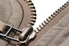 Zipper on white background stock image