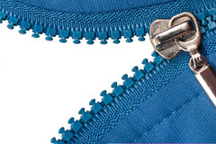 Zipper on white background Royalty Free Stock Images