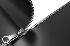 Zipper. On white background 3D rendering Royalty Free Stock Photo