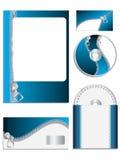 Zippered company vector set Stock Image