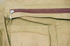 zippered fack Royaltyfri Bild